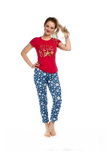 Pamuk & Pamuk Yıldız Desen Kadın Pijama Takım Renkli